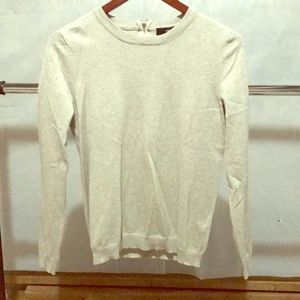 Forever21 soft cream long sleeve top back zipper